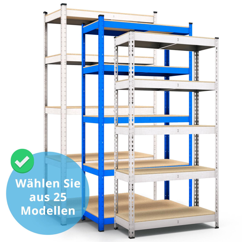 Steckregal Werkstattregal Kellerregal Schwerlastregal Metallregal Lagerregal MDF
