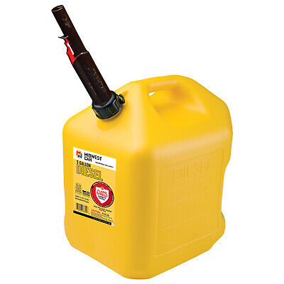 Midwest Can Company 5 Gallon Diesel Can Fuel Container Auto Shut Off Open Box