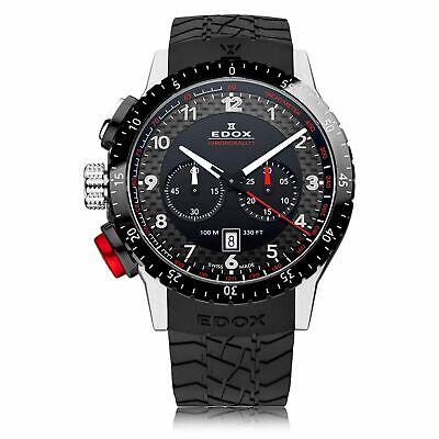 EDOX 10305 3NR NR Men's Chronorally Black Quartz Watch