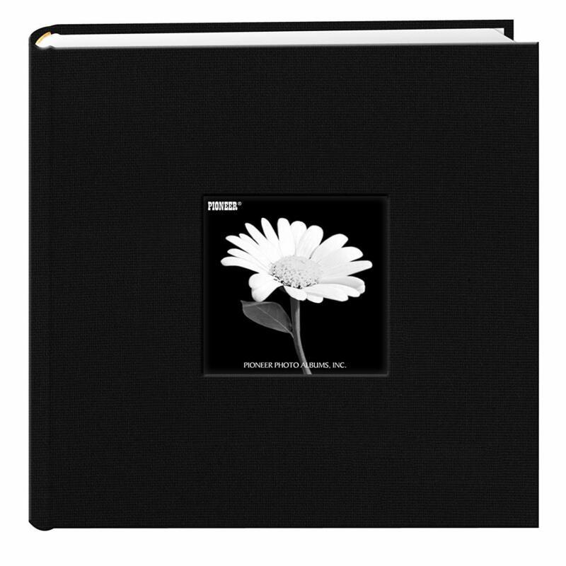 Pioneer Photo Albums DA200CBF-APR Fabric Frame Album 4X6 2-UP 200 Photo Black