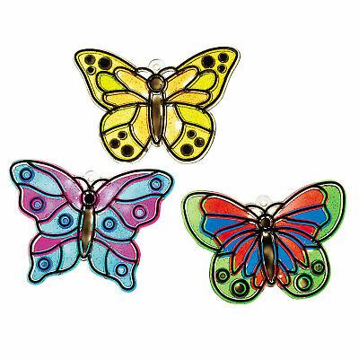 Butterfly Suncatchers - Craft Supplies - 12 Pieces
