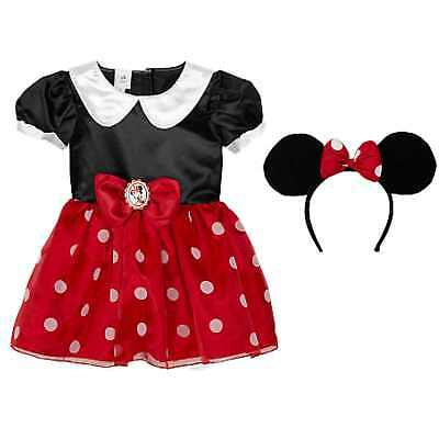 Disney Red Baby Minnie Mouse Halloween Costume Size 3-6 Months NWT (3-6 Month Minnie Mouse Halloween Costume)