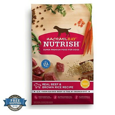 Rachael Ray Nutrish Natural Dry Dog Food Real Beef and Brown Rice Recipe 14 lbs