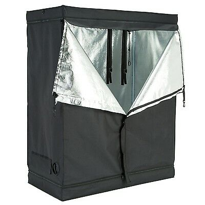 "48""x24""x60"" Indoor Grow Tent Room Reflective 600D Mylar Hydroponic Non Toxic Hut"