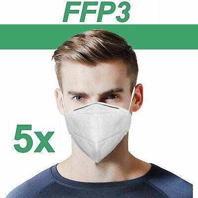 FFP3 Maske Atemschutzmaske Schutzmaske Bakterien Filtermaske EN149 5 Stück
