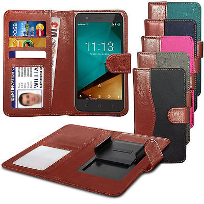 For HTC One (E8) CDMA - Fabric Mix Clip Function Wallet Case Cover ()