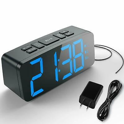 Haptime Digital Dual-Alarm Clock With Fm Radio Snooze and Large Adjustable Led D