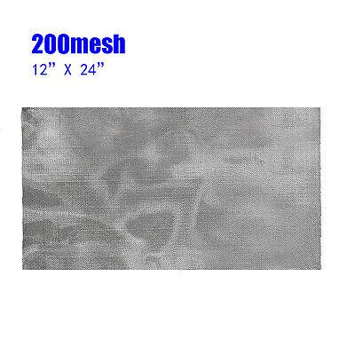 Steel Wire Mesh Roll 200 Mesh 12x24 30cm X 60cm Stainless Steel Fine Filter