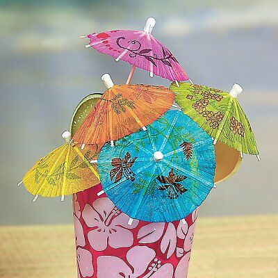 144x Colorful  Paper Cocktail Drink Cake Umbrellas Party Supply Drink Decor US