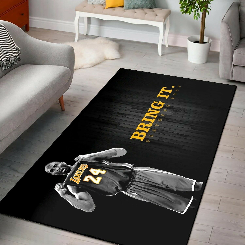 Kobe Bryant Rug, Los Angeles Lakers Nba Basketball Rug, Area