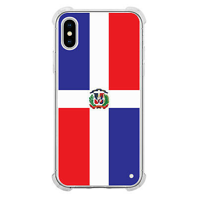 Cellet TPU / PC Proguard Case with Dominican Republic Flag for Apple iPhone (Cellet Iphone Case)