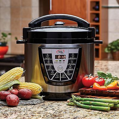 Digital Power Pressure Cooker CANNER Addition XL Electric 8 Quart Stainless Steel