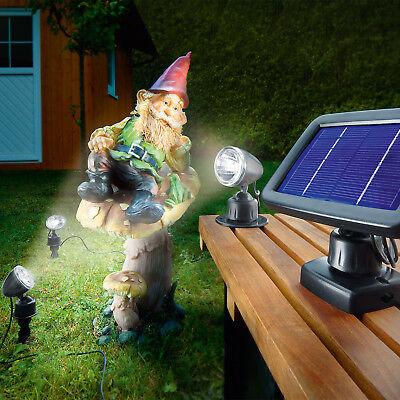 Solar-spot (Solarspot Trio Solarstrahler Solarleuchte LED Gartenleuchte Solar, esotec 102140)