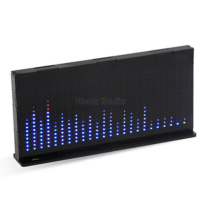 Led Music Spectrum Mic Sound Level Analyzer Dot Matrix Vu Meter Desk Audio Lamp