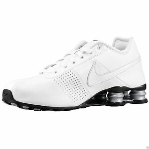 ... shopping nike shox deliver mens size 10 running shoes white metallic  silver 317547 109 ebay 16e6a f30990312