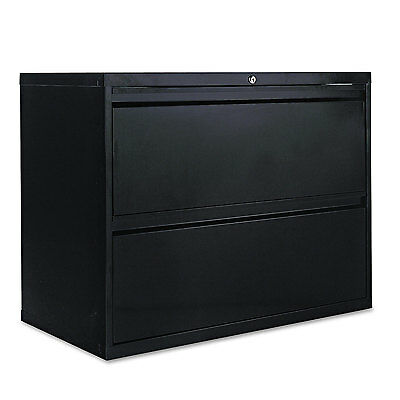 Alera Two-drawer Lateral File Cabinet 36w X 19-14d X 28-38h Black Lf3629bl