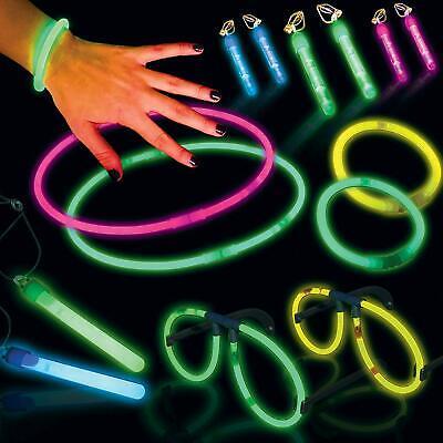 Glow in the Dark Neon Party Mega Pack Glow Sticks: Eye Glasses, Earrings, Sticks - Glow In The Dark Eye Glasses