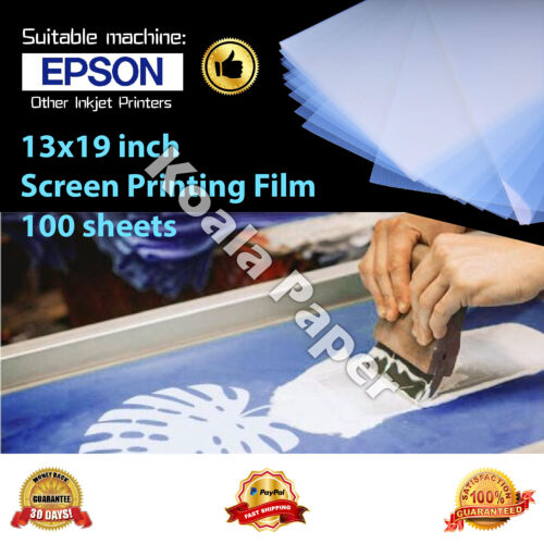 100 Sheets 13x19 Silk Transparency Inkjet Film Waterproof Screen Printing A-SUB