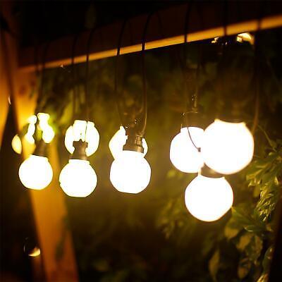 Aigostar - Guirnalda de luz LED, 10 bombillas redondas y opacas, para...