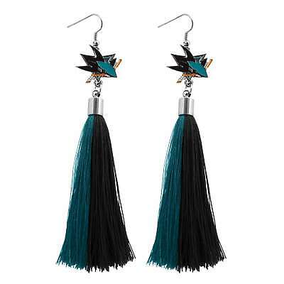San Jose Sharks Tassel Earrings NHL Authentic Made by Little Earth New