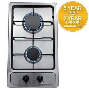 SIA SSG301SS 30cm Compact Domino Gas Hob In Stainless Steel   LPG KIT   FFD