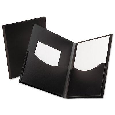 Oxford Poly Double Stuff Gusseted 2-pocket Folder 200-sheet Capacity Black 57454