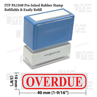New Jyp Pa1040 Pre-inked Rubber Stamp W. Overdue Frame