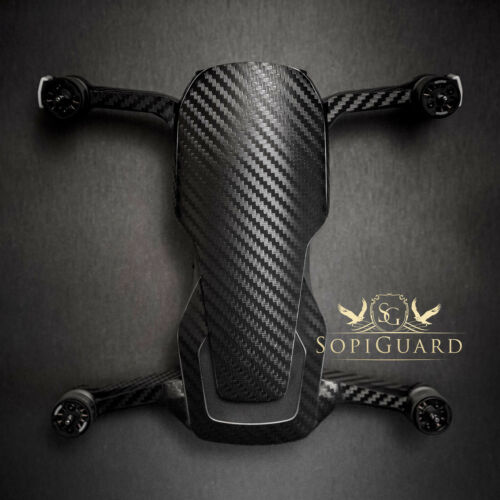 SopiGuard Black Carbon Fiber Skin Wrap Battery Controller for DJI Mavic Air