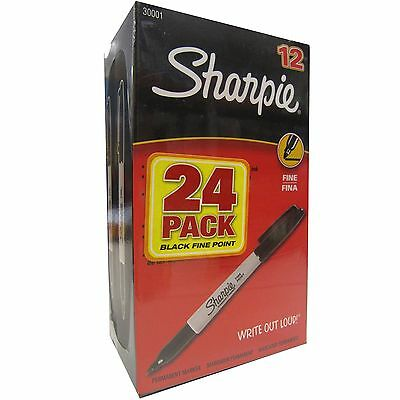 Sharpie Permanent Marker Fine Point Black 24-count