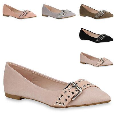 Wildleder Ballerinas Schuhe (893366 Spitze Damen Ballerinas Klassische Slip Ons Wildleder-Optik Schuhe Mode)