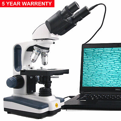 Swift 40x-2500x Brinocular Compound Microscope Led Lab Light With Digital Camera