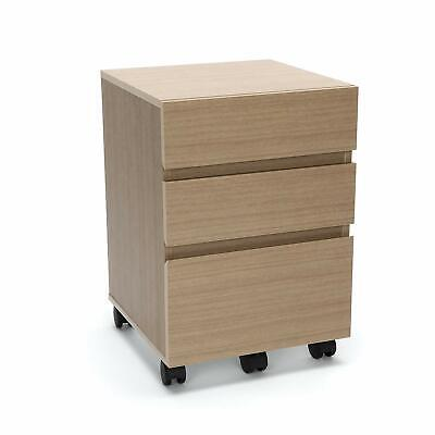 File Cabinet 3 Finishes (Modular Mobile File Cabinet with 3 Drawers in Harvest Finish - File Pedestal)