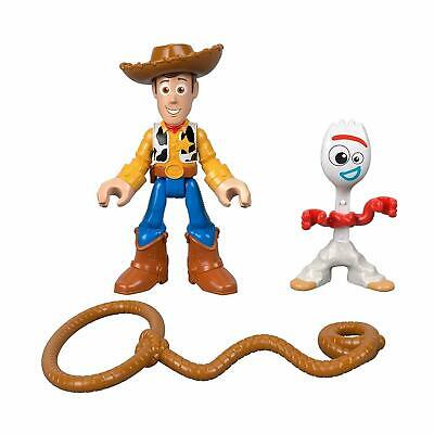 Imaginext Toy Story 4 Fisher-Price Disney Woody and Forky Figures Age 3-8 NEW!
