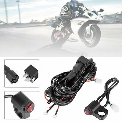 UNIVERSAL MOTORCYCLE SPOT / FOG LIGHT WIRING LOOM HARNESS KIT RELAY SWITCH