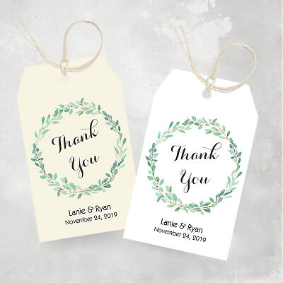 25 Favor Tags - Wedding Thank You Tags, Personalized Tags - Wedding Thank You