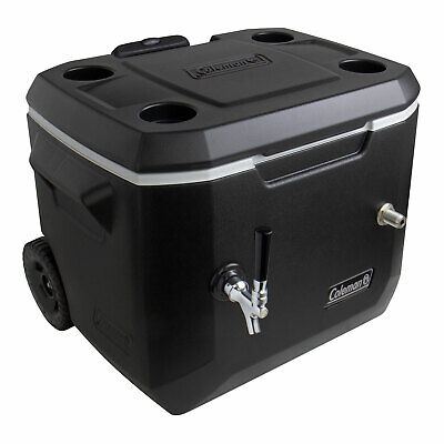 Kegco Kjb-160-bk 50 Qt. Single Tap Black Rolling Jockey Box With 120 Ss Coil