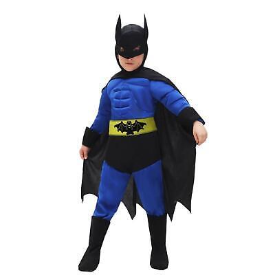 Vestito Costume di Carnevale Batman Pipistrello Baby 4 Anni Bambino Pegasus 0699