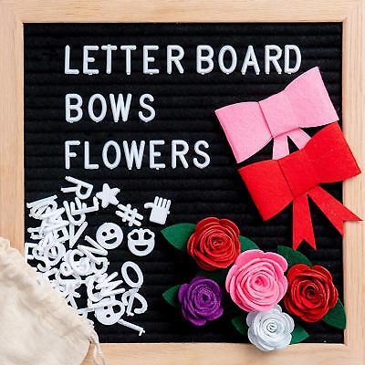 (Black Felt Letter Board 10 x 10 inch Changeable Letter Board Bulletin Message )