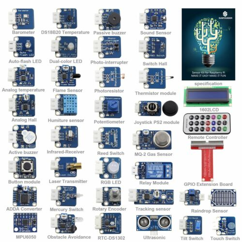 SunFounder 37 Modules Sensor Kit V2.0 for Raspberry Pi 2,3 a