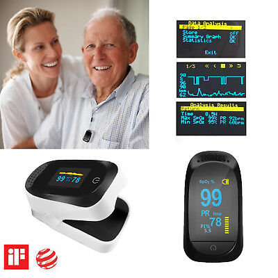 Fingertip Pulse Oximeter Blood Oxygen Saturation Monitor With Pr Pi Fda Approved