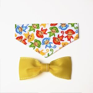 Monkeys Over the Collar Bandana with Matching Bow Tie