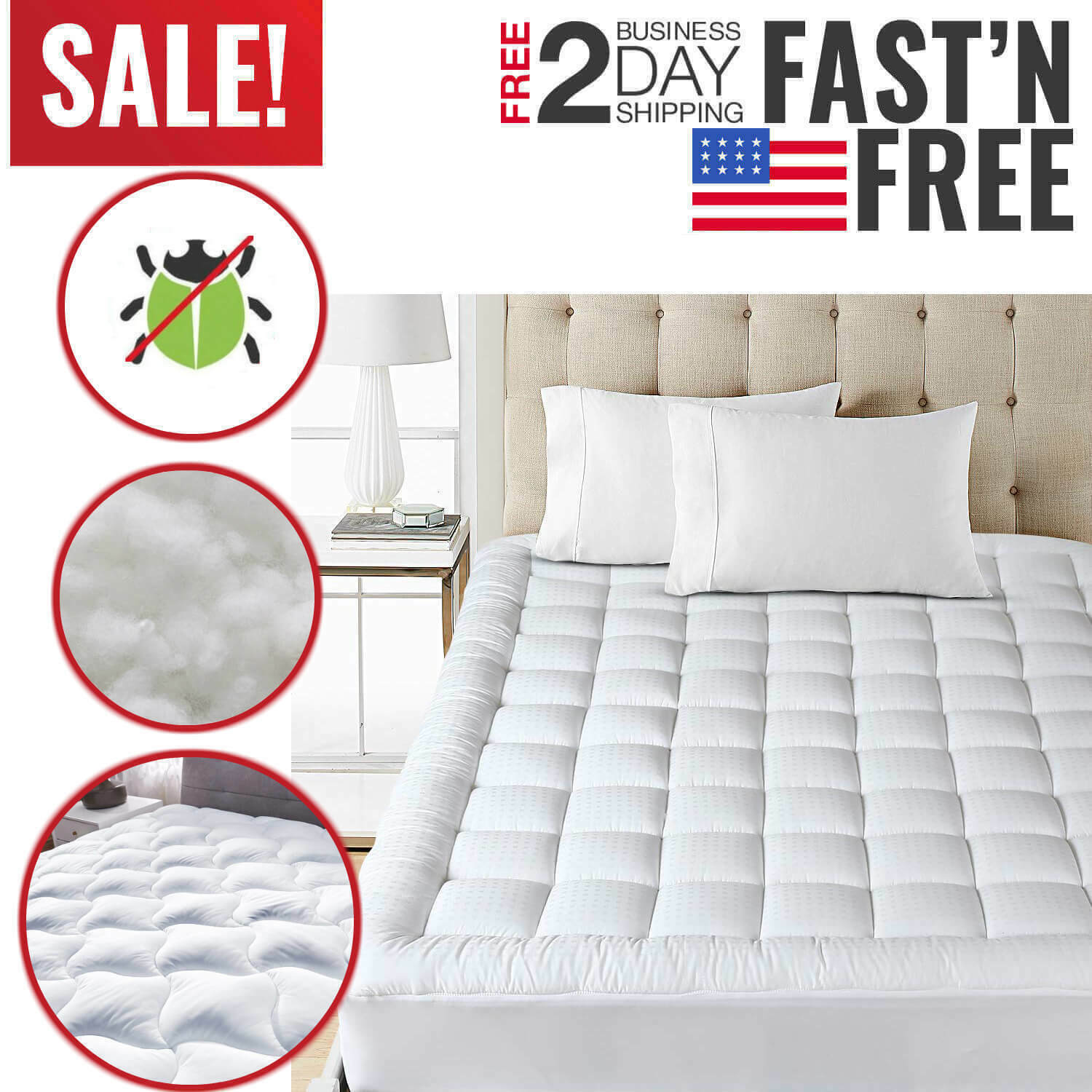 twin size mattress pad cover pillow top