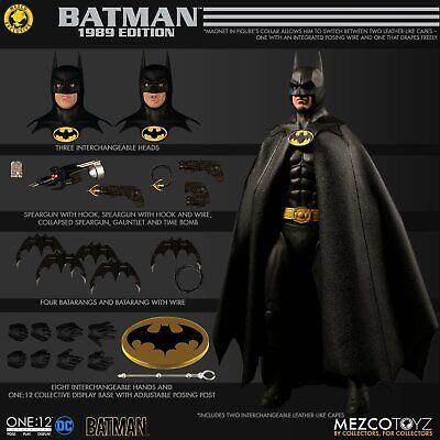 "Mezco Exclusive ONE 12 COLLECTIVE Batman 1989 Edition Michael Keaton 6"" PRESALE"