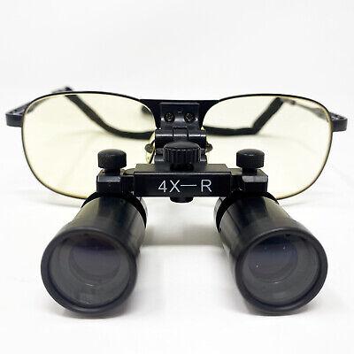 Ymarda Dental Medical Glasses Loupes 4.0x 420m Black Metal Frame Us Stock
