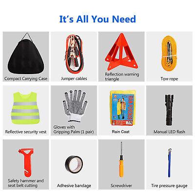 Multipurpose Roadside Assistance Car Emergency Kit Auto Safety Tools 104pcs US