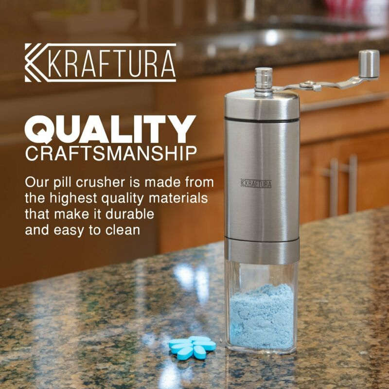 Pill Crusher Grinder For Multiple Tablets Vitamins to a Fine