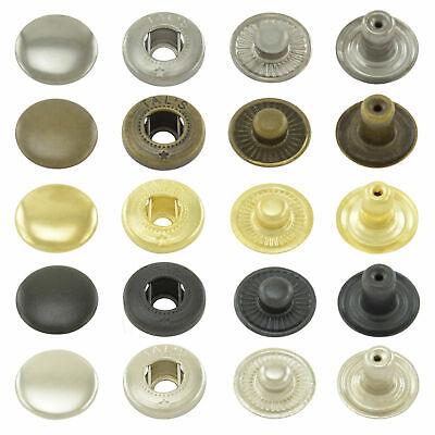 Druckknöpfe S-Feder, nähfrei, Snaps Buttons Knöpfe Metallknöpfe (50 Stück)