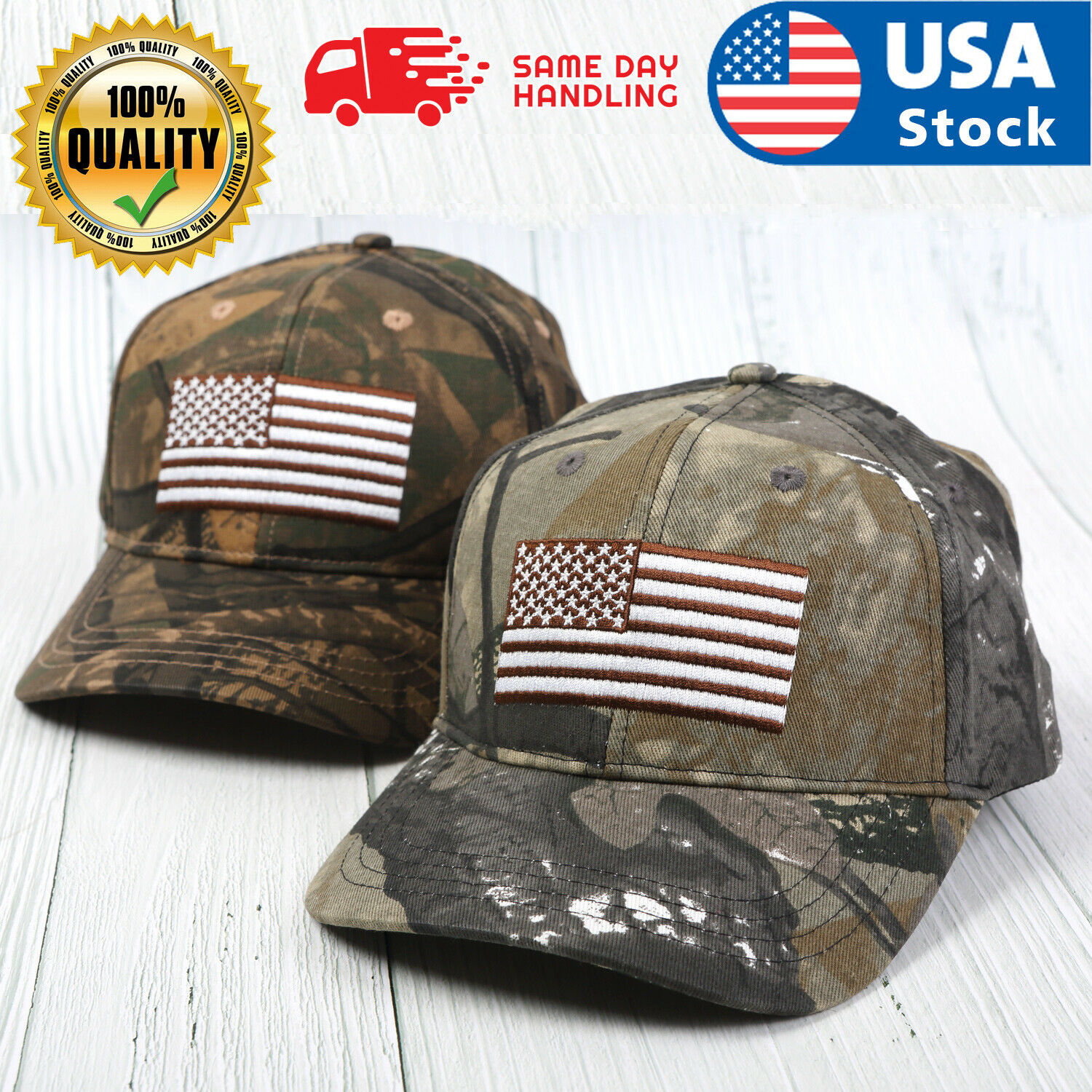 Baseball Cap Trucker Army Hat USA American Flag Tactical Military Adjustable Men Clothing, Shoes & Accessories