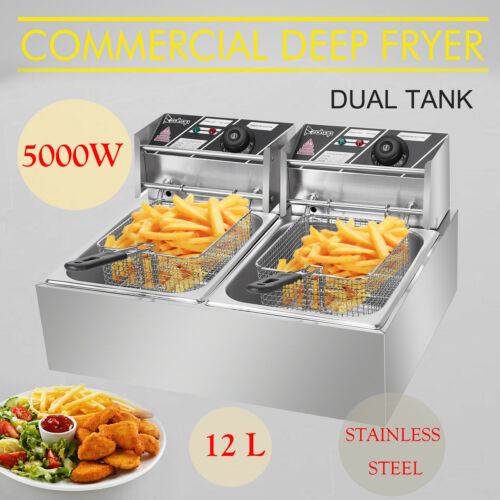 12l dual tank electric deep fryer commercial