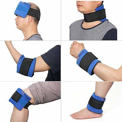 Knee Heat Wrap Gel Ice Pack Hot/ Cold Therapy Injuries First Aid Head Neck (Neck Ice Wrap)
